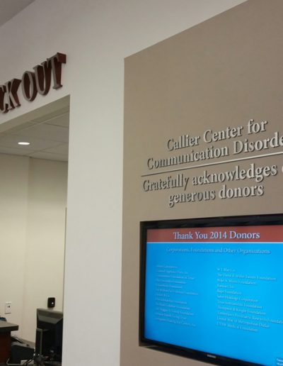 UTD Callier Center Check Out
